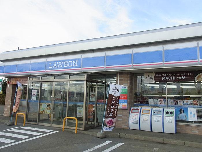 ローソン上富良野大町店の外観写真