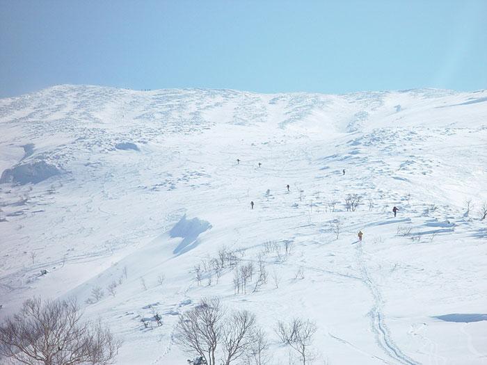 山岳スキー:三段山スロープ