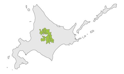 構成自治体のマップ図