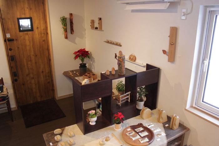 鈴木工房クラフトショップの店内写真